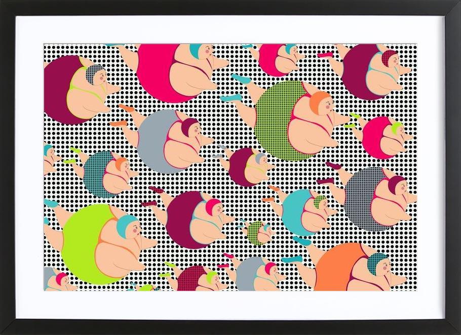 Spotty Swimmers (SSWIM) Framed Print