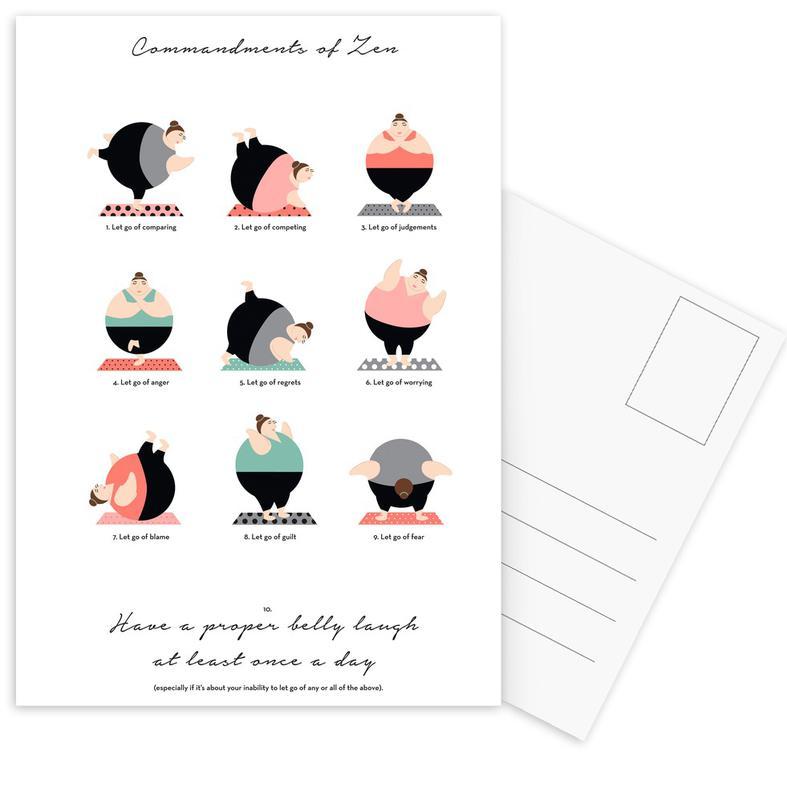 Yoga Postcard Set