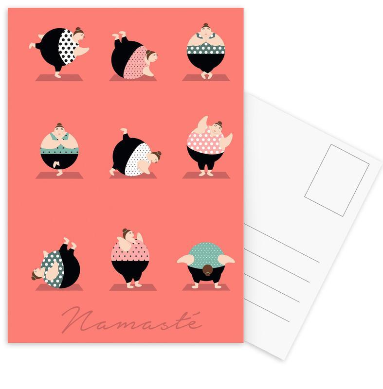 Yoga Coral Postcard Set