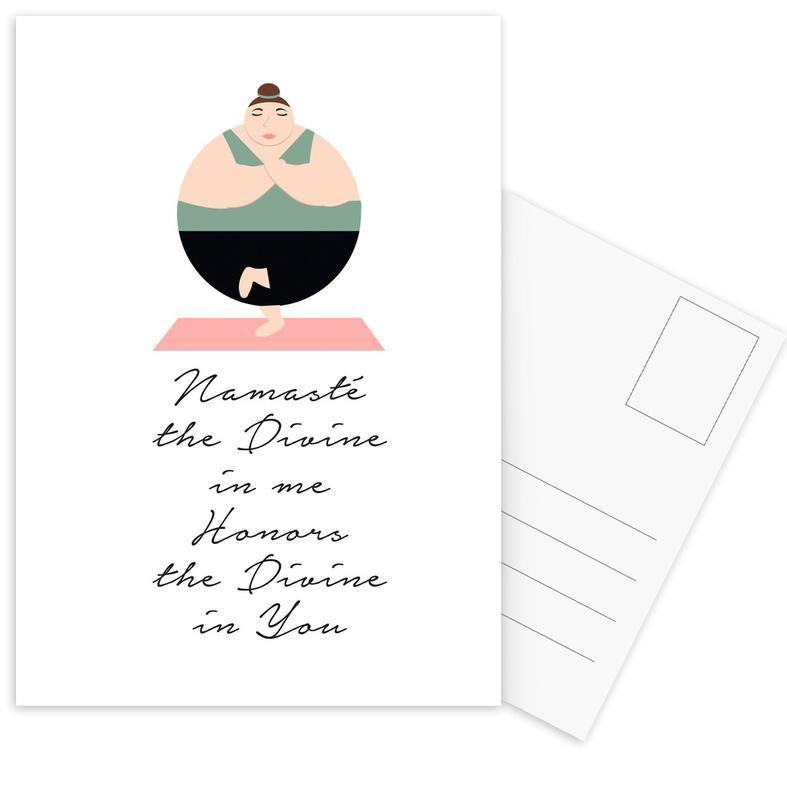 Yoga 1 -Postkartenset