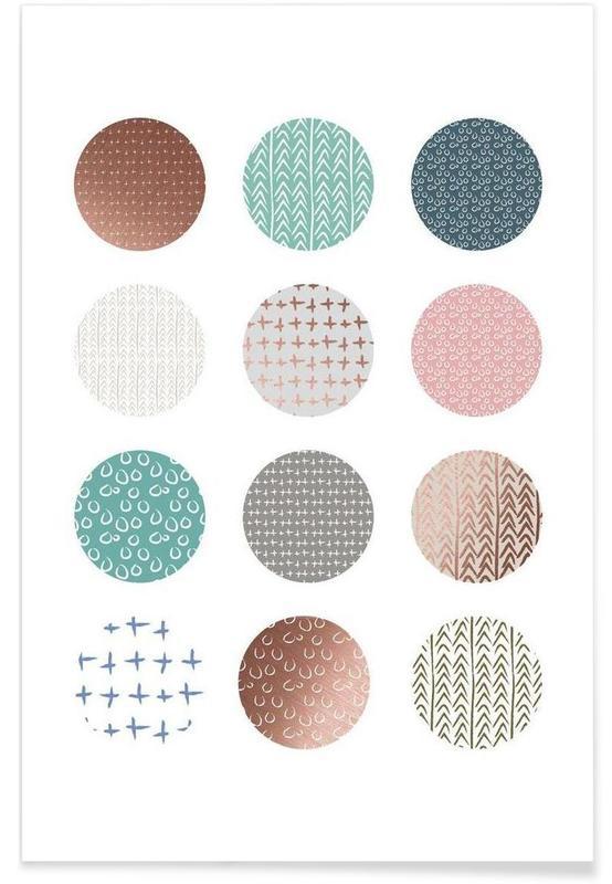 , Bronze Pattern Dots affiche