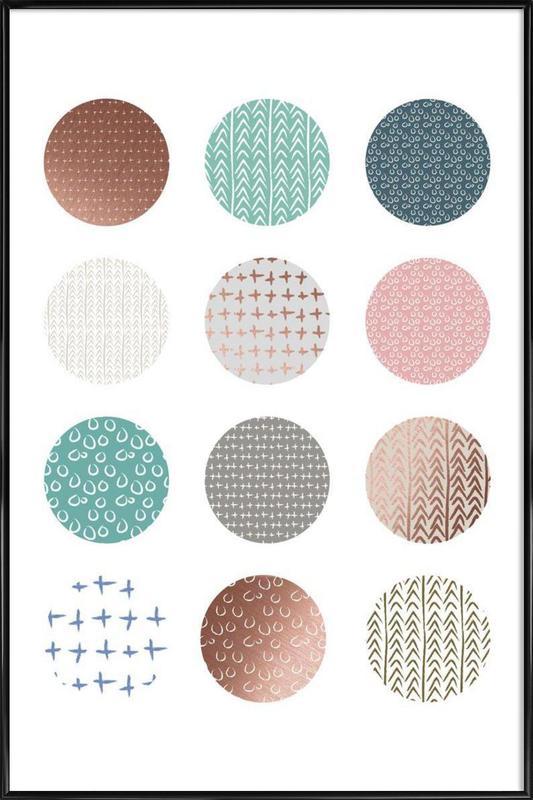 Bronze Pattern Dots Framed Poster