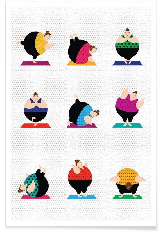 Yoga, Yoginis Bright 2 -Poster