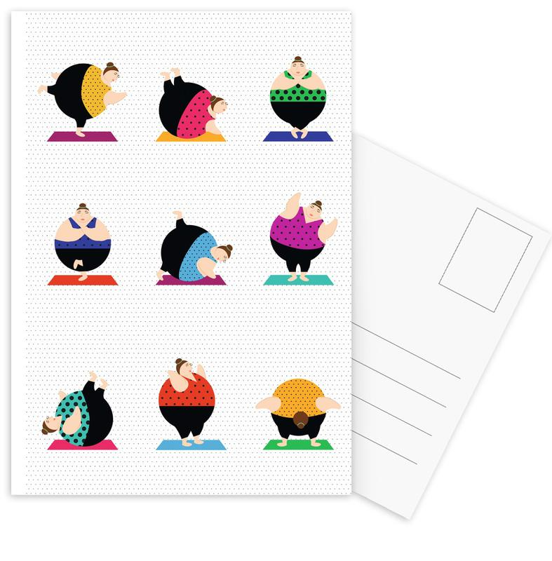 Yoginis Bright 2 Postcard Set