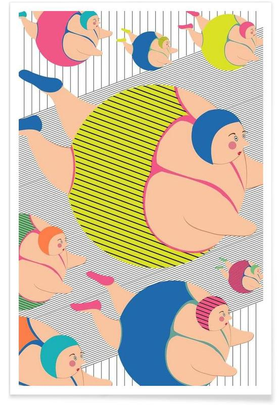 Natation, Synchronised Striped Swimmers affiche