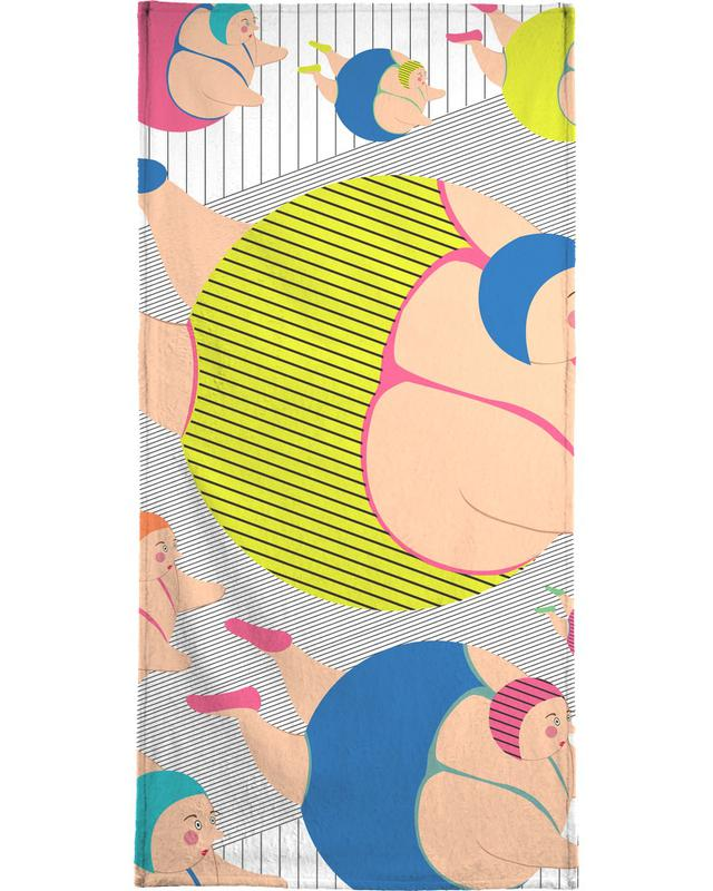 Synchronised Striped Swimmers Bath Towel
