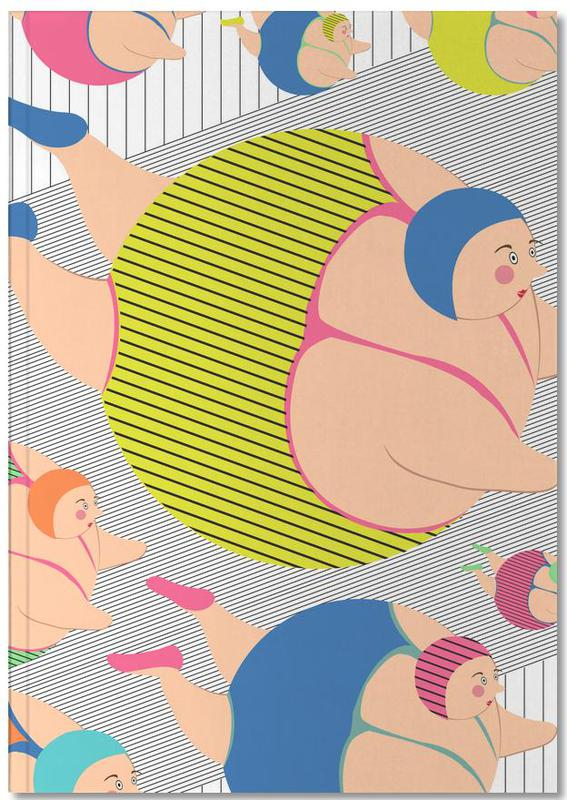 Swimming, Synchronised Striped Swimmers Notebook