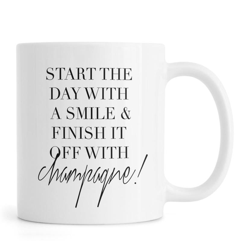 Schwarz & Weiß, Motivation, Zitate & Slogans, Start -Tasse