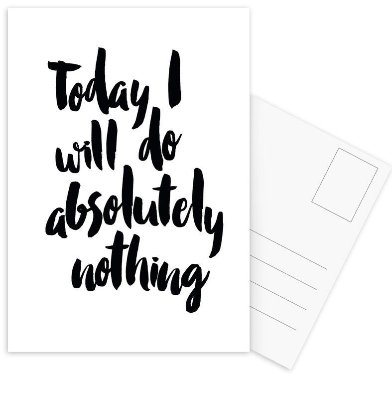 Black & White, Quotes & Slogans, Today Postcard Set