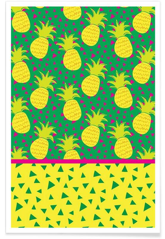 Ananas, Falling Pineapples affiche