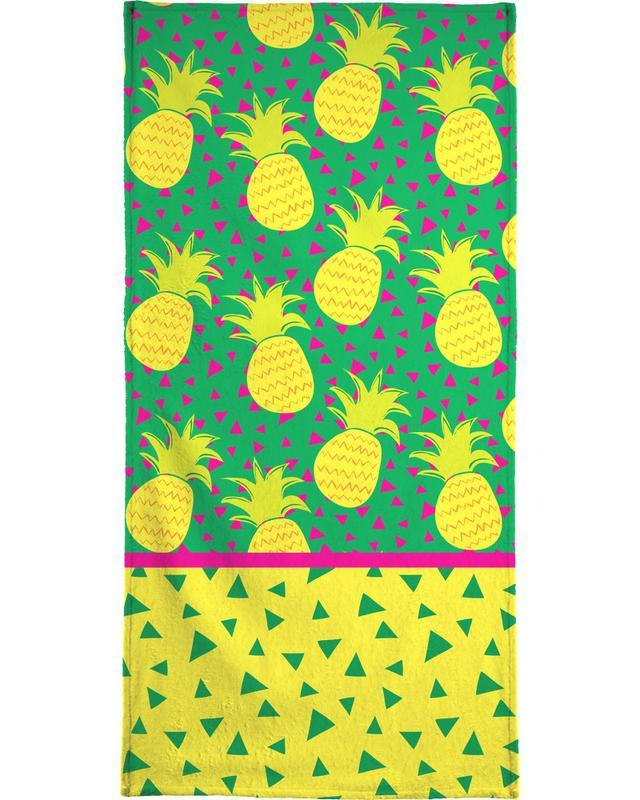 Falling Pineapples Beach Towel