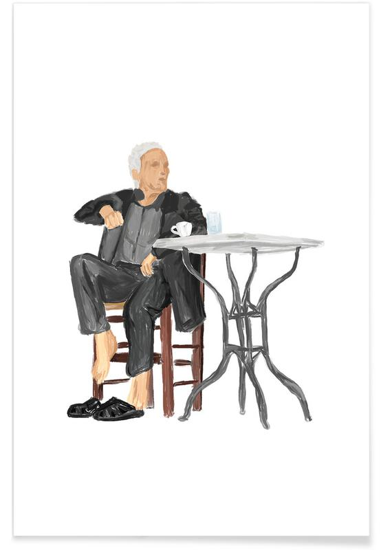 Portraits, Travel, Cafenio Poster