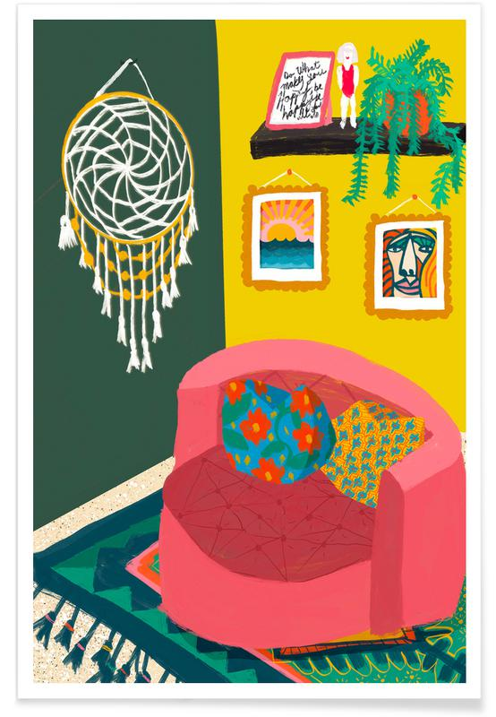 , The Round Couch -Poster