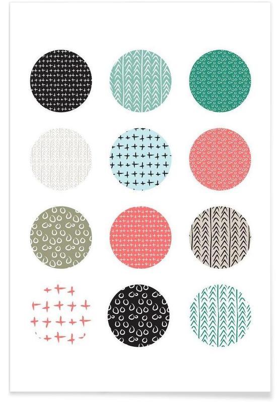 , Patterned dots affiche