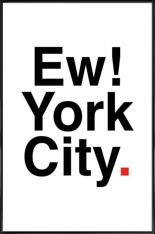 Ew York City -Bild mit Kunststoffrahmen