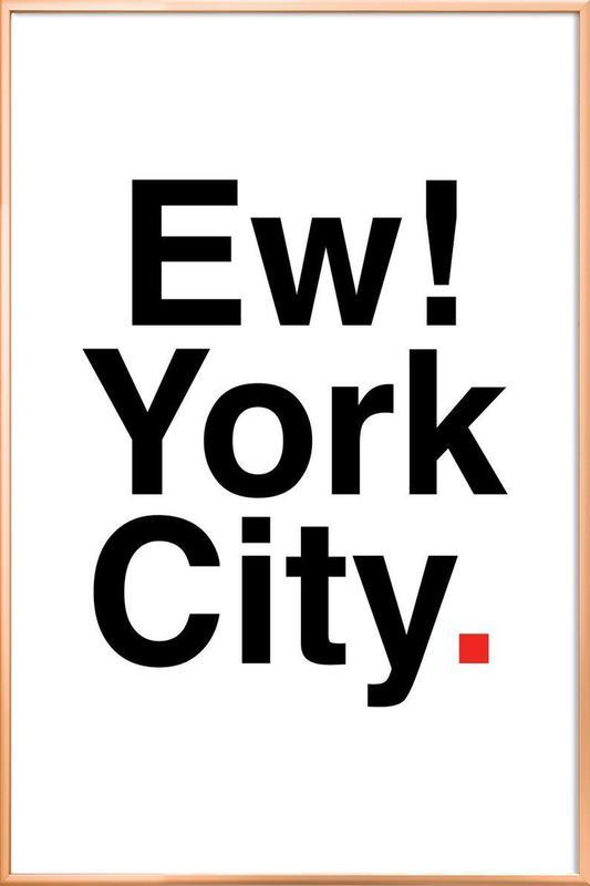 Ew York City -Poster im Alurahmen