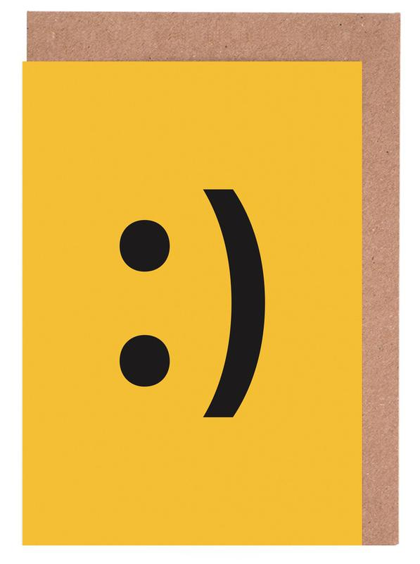 Symbole, Smiley -Grußkarten-Set