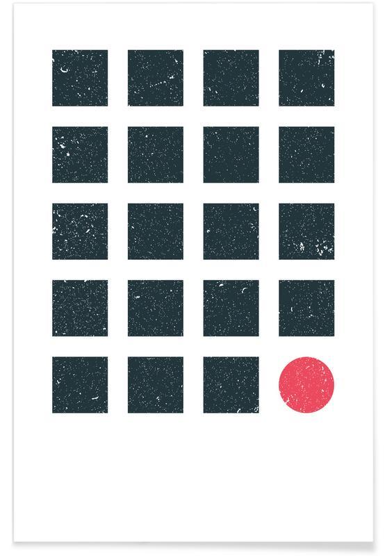 , Blue Squares poster