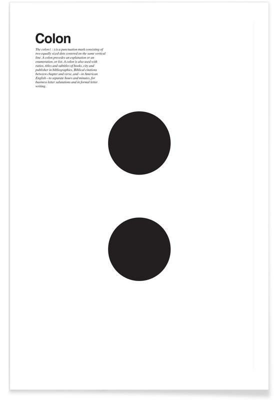 Schwarz & Weiß, Symbole, Colon -Poster
