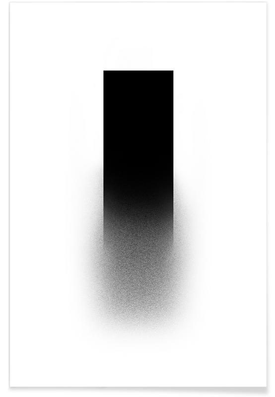 Zwart en wit, Symbolen, Fading rectangle poster