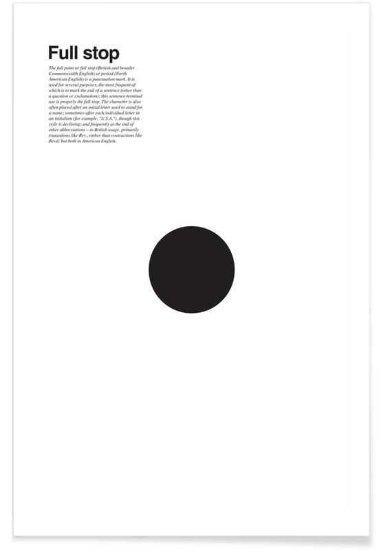 Zwart en wit, Symbolen, Full stop poster