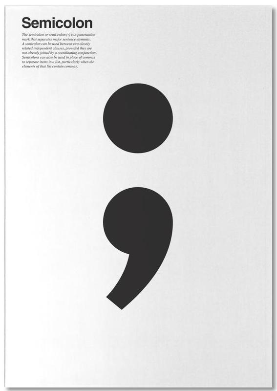 Semicolon -Notizblock