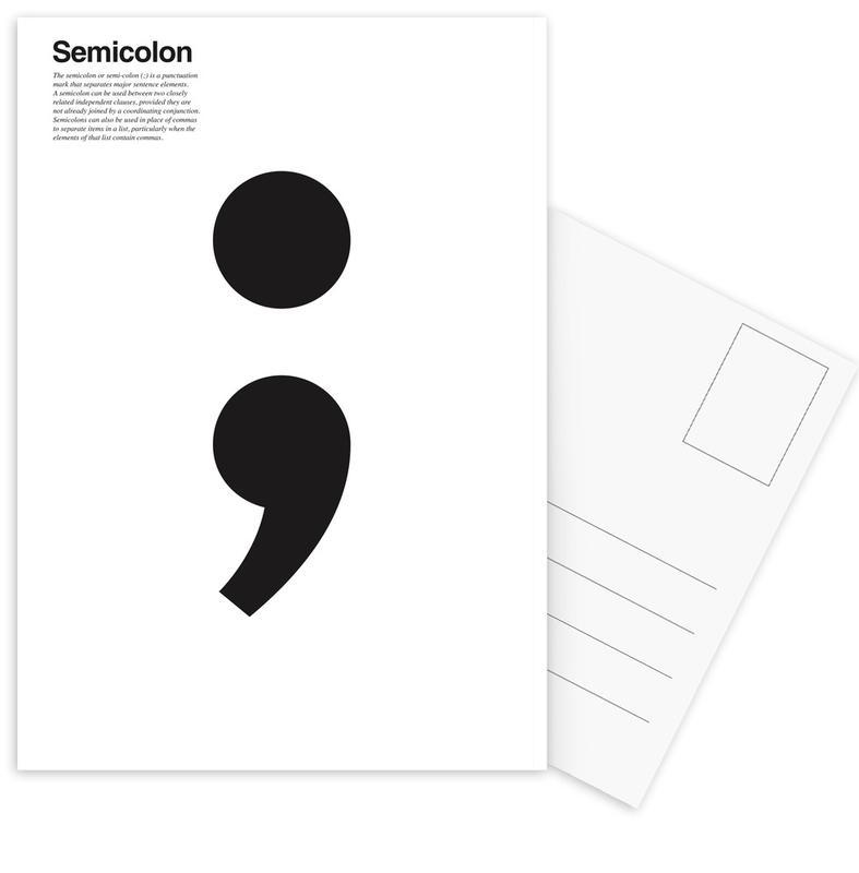 Semicolon -Postkartenset