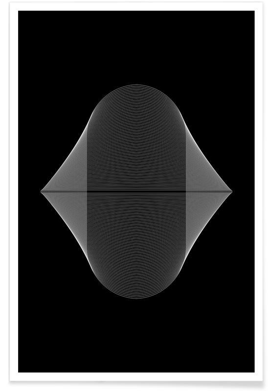 Zwart en wit, Oval 3 poster