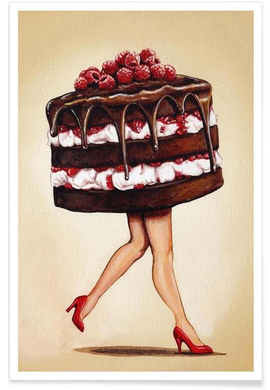 Retro, Kager, Cake Walk Plakat