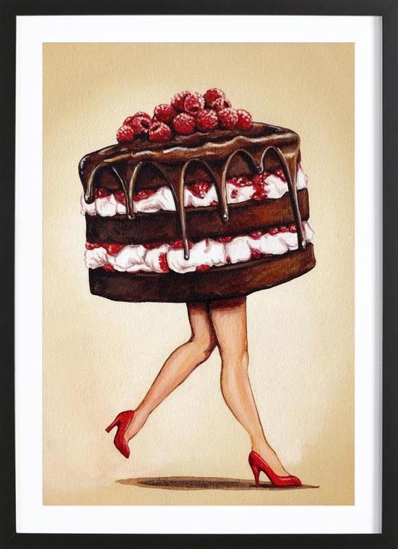 Cake Walk -Bild mit Holzrahmen