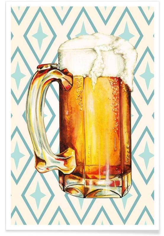 Bière, Rétro, Beer affiche