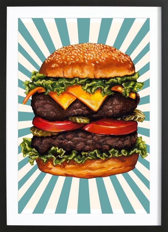 Double Cheeseburger ingelijste print