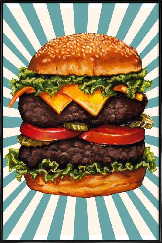 Double Cheeseburger ingelijste poster