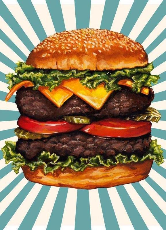 Double Cheeseburger Canvas Print