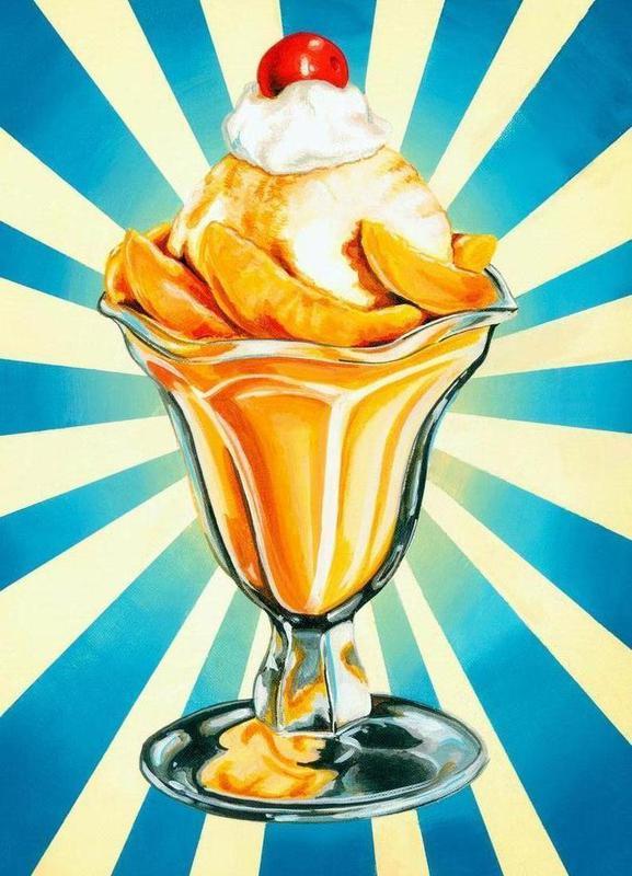Peach Sundae Canvas Print
