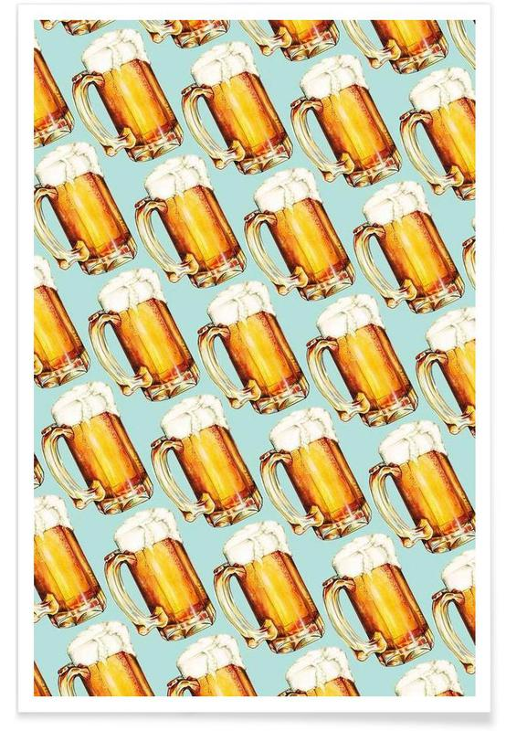 Beer Pattern -Poster