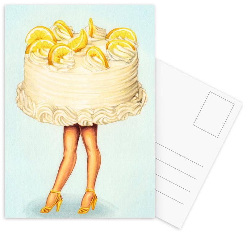 Retro, Taarten, Cake Walk III ansichtkaartenset