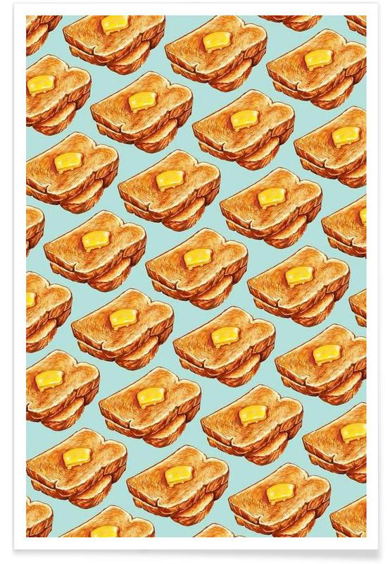 Buttered Toast Pattern affiche
