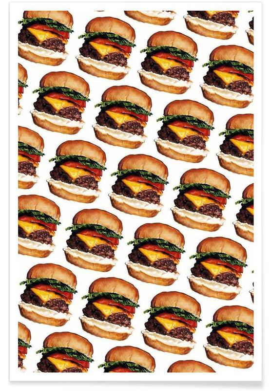 Cheeseburger Pattern affiche