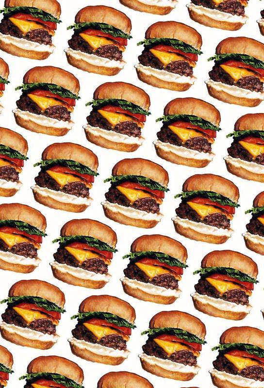 Cheeseburger Pattern Acrylic Print