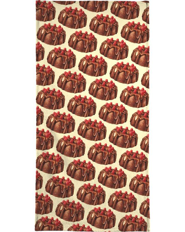 Chocolate Bundt Cake Pattern Bath Towel