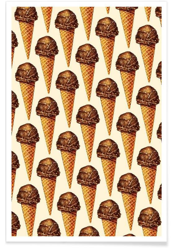 Chocolate Scoop Pattern -Poster