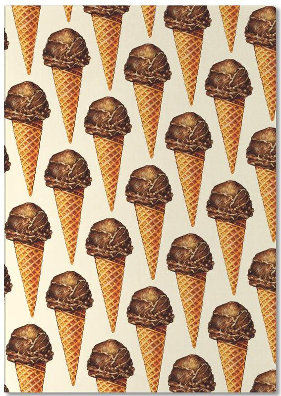 Chocolate Scoop Pattern bloc-notes