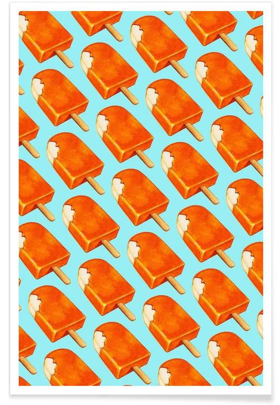 Creamsicle Pattern Poster