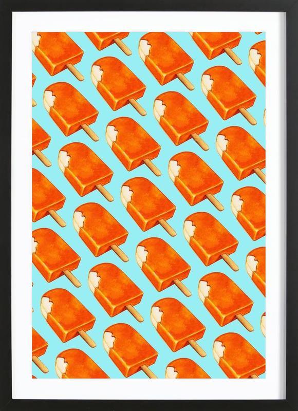 Creamsicle Pattern Framed Print