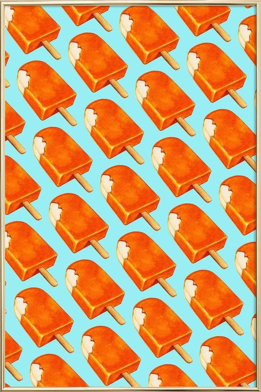 Creamsicle Pattern Poster in Aluminium Frame