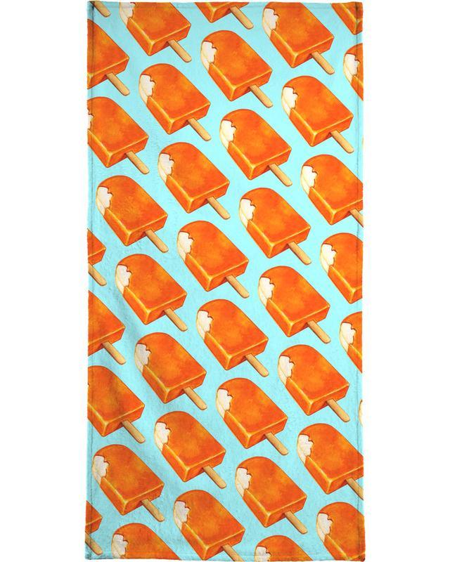 Creamsicle Pattern Beach Towel