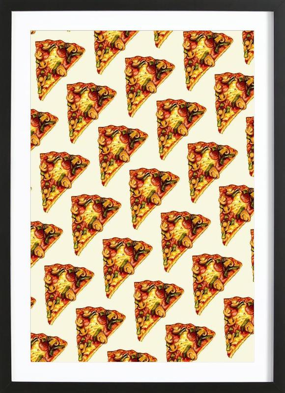 Pizza Pattern Framed Print