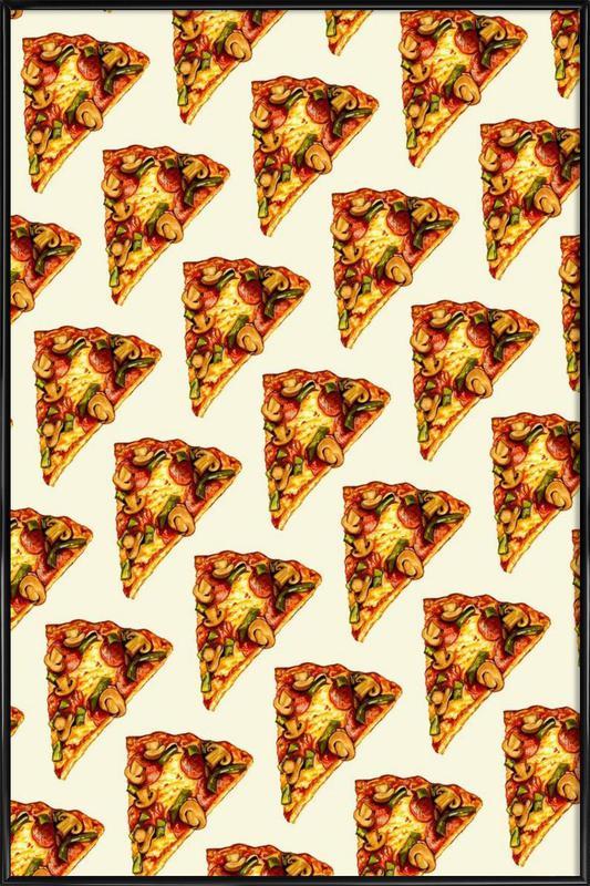 Pizza Pattern Framed Poster
