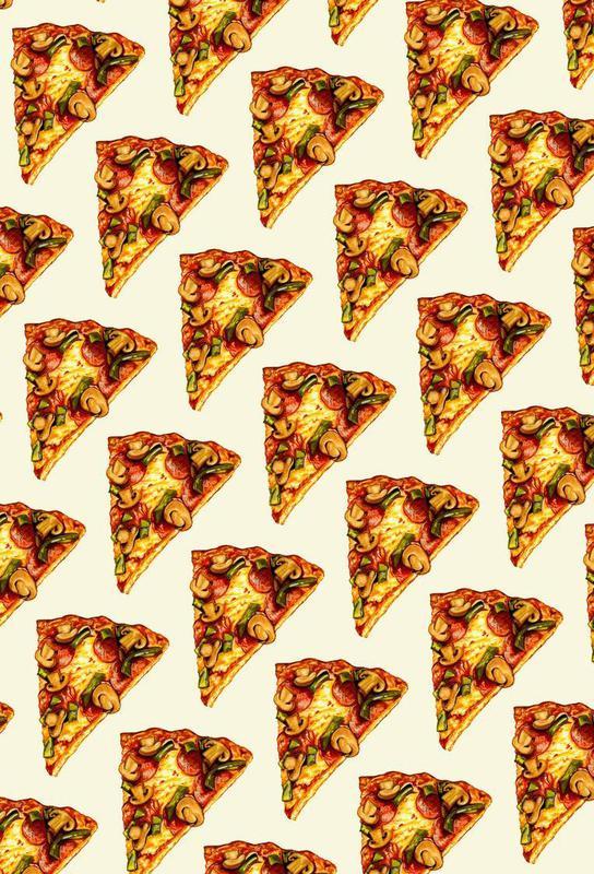 Pizza Pattern Acrylic Print